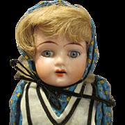 """Antique 13"""" Bisque Head Doll"""