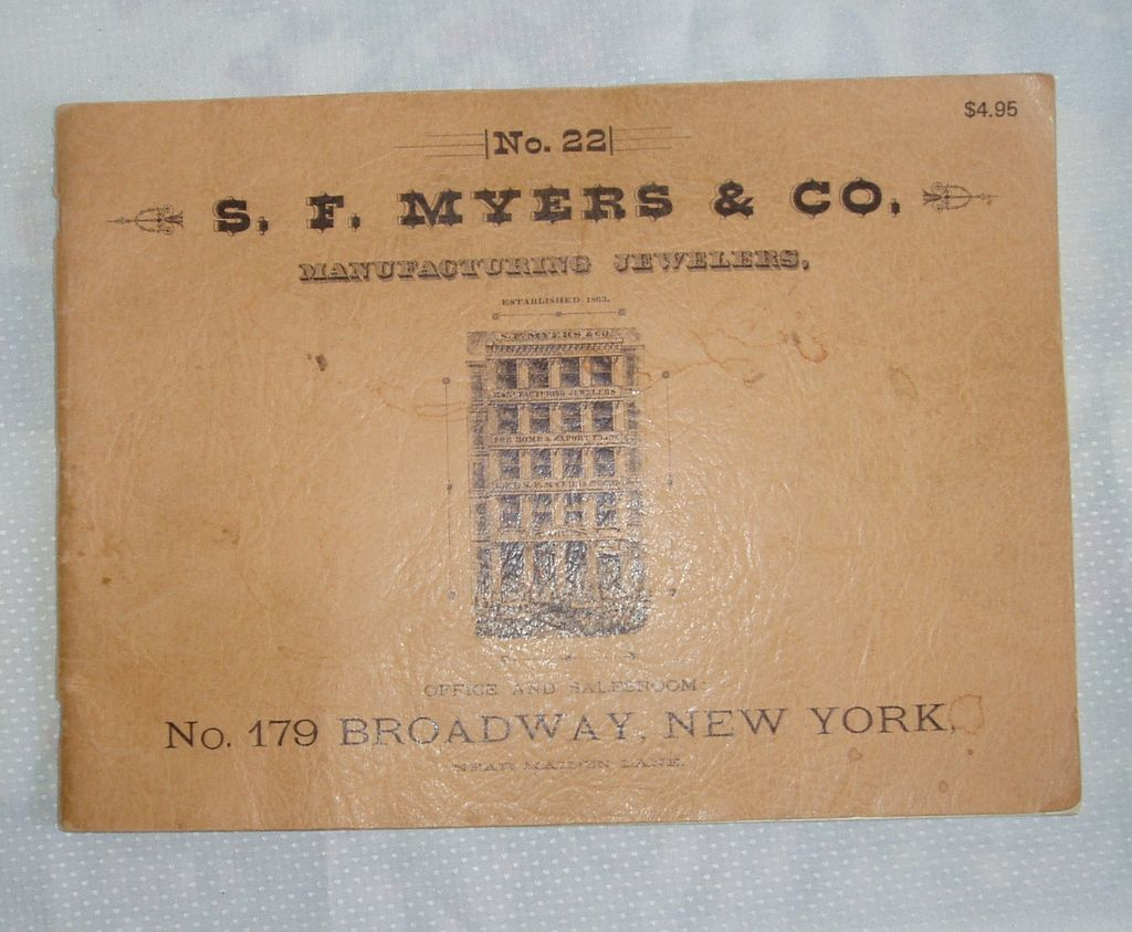 S.F. Myers & Co. New York 1885 Watch & Clock Catalogue