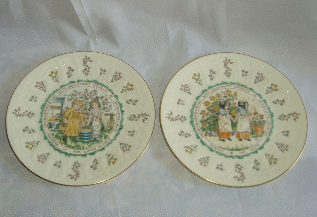 Kate Greenaway Aquarius Royal Doulton plate and Gemini Plate