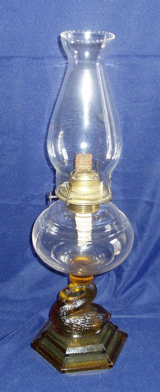 Atterbury swan oil lamp