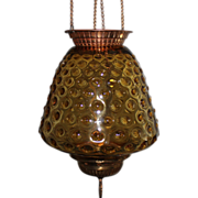 Amber Hall Hanging Oil Lamp