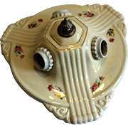 Porcelain Deco 3 Bulb Ceiling  Fixture