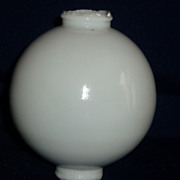 White milk glass lightning rod ball