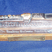 Vintage Advertising Paperweight for the Reading Railway System