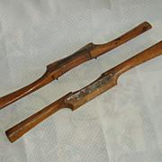Wood spoke shave tool