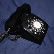 Black Western Electric Rotary Telephone