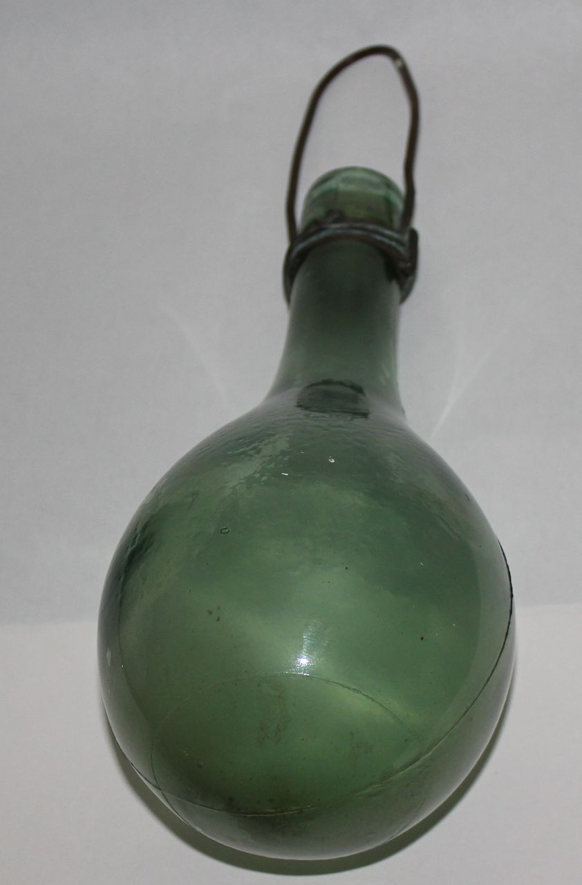 Hand blown round bottom bottle