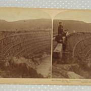 Red sucker railroad trestle bridge port caldwell canada