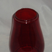 Red replacement railway barn lantern globe