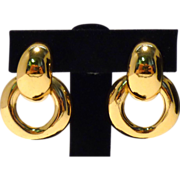 Yves St. Laurent! Bold and Beautiful 1970s Hoop Earrings