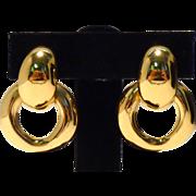 Yves St. Laurent! Bold and Beautiful 1970s Hoop Earrings