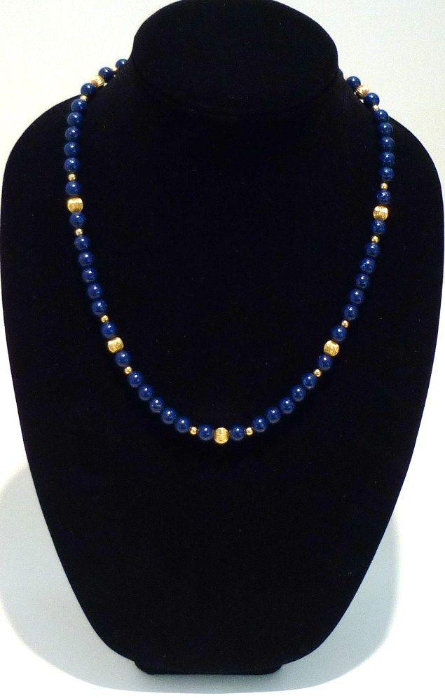 Faux Lapis Lazuli Necklace