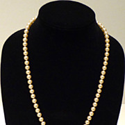 Matinee Length Faux Pearl Necklace