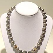 Faux Tahitian Grey Pearl Princess Necklace