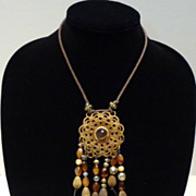 Tibetan Amulet with Synthetic Cat's Eye