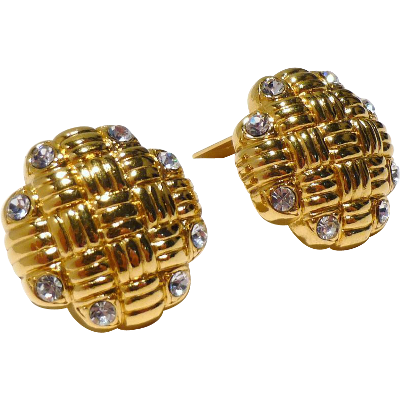 Stunning Oscar de la Renta Vintage Earrings