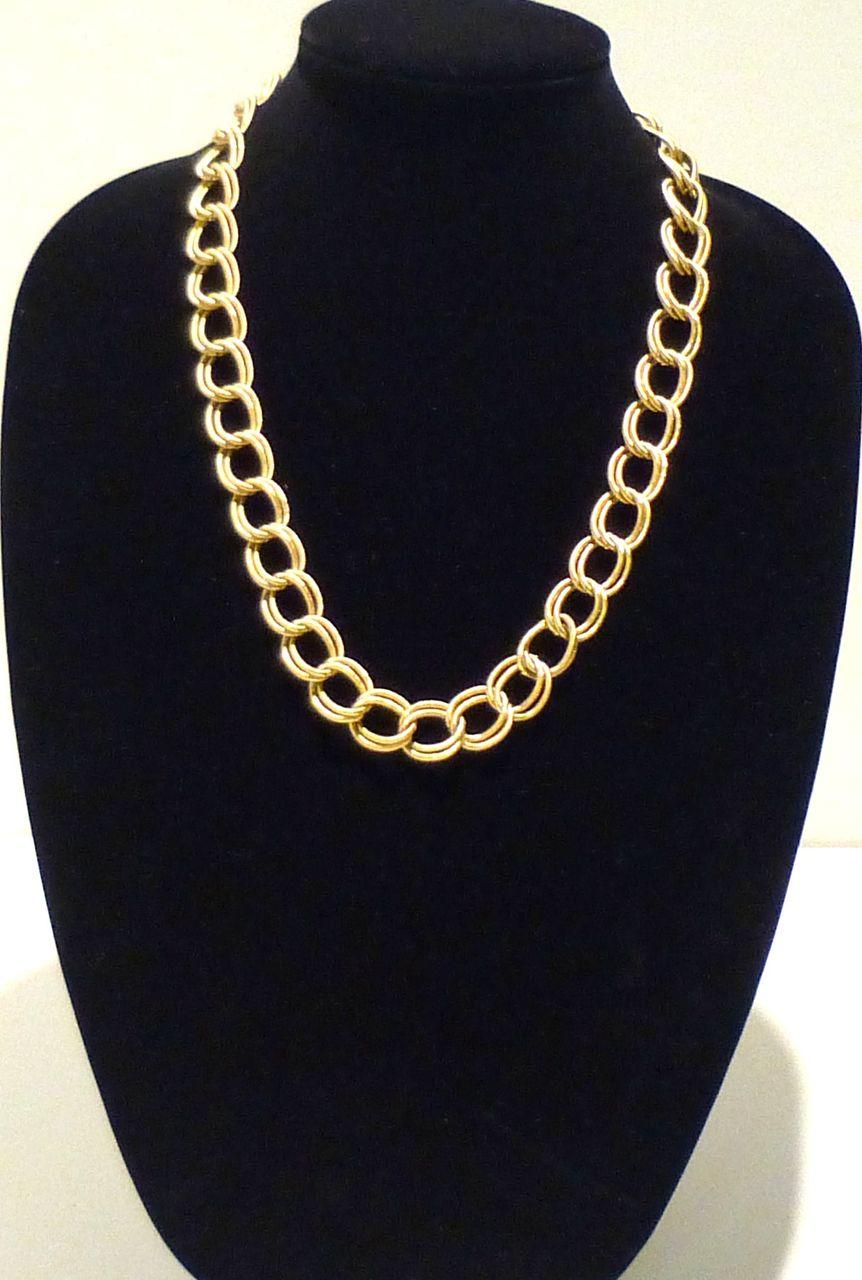 Classic Pierre Cardin Double Link Necklace