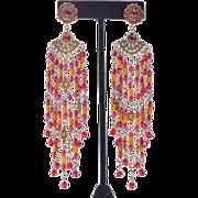 Goddess Earrings in Garnet and Copper Colors