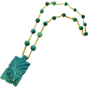 African Tribal Malachite Necklace