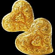 Fabulous Christian Lacroix Heart Earrings