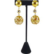 Made in Italy Birdcage Gold-Tone Earrings