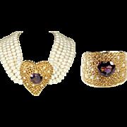 De Michele Jewels - Magnificent Set! 18K, Amethtyst, Citrine, Pearls