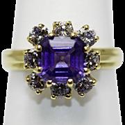 Tanzanite & Diamond Ring 18K
