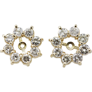 Diamond Earring Jackets 14K 1.25cttw