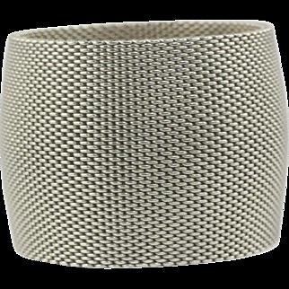 Ultra Wide Woven Bracelet Sterling Silver CHIC