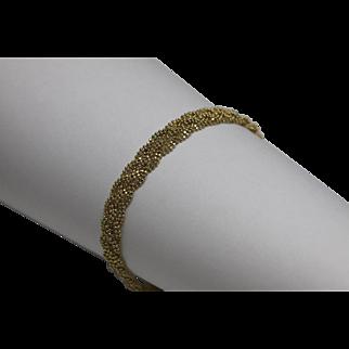 Braided Bead Chain Bracelet 14K