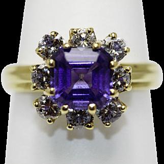 Tanzanite and Diamond 18K Ring
