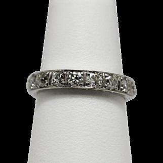 Vintage Diamond Eternity Band Ring 1 1/4ctw  14K