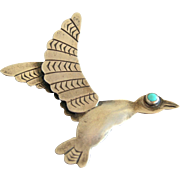 Native American Navajo Sterling Silver Hummingbird Pin