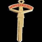 Vintage Ford THUNDERBIRD Emblem Crest Key Blank - 1950's