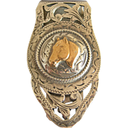 Sterling Silver HORSE MONEY CLIP Mexico Southwestern