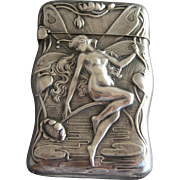Unger Bros. Nude Fairy Sterling Silver Match Safe  1904