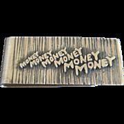 Harold Fithian fi Modernist Sterling Money Clip
