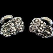 UNGER Art Nouveau Sterling Silver SATYR Cufflinks - Circa 1895