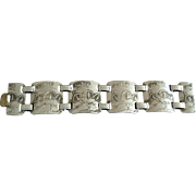 Wendell August Forge Hammered Aluminum Bracelet  1940's - 50's