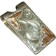 Gold & Sterling Silver Southwestern Money Clip