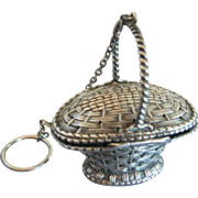 Simons Sterling Silver Picnic Basket Tea Ball