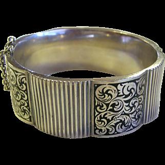 Topazio Enamel & Sterling Silver Bangle Bracelet