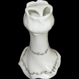 Antique LIMOGES FRANCE Porcelain Hatpin Holder