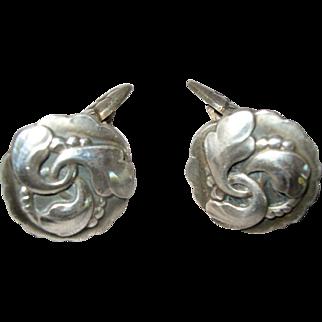 Georg Jensen Early Sterling Silver Cufflinks  #65   circa 1915-1930
