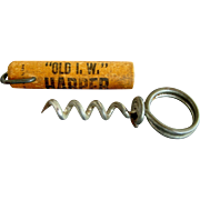 Antique Advertising Corkscrew - Harper Whiskey - 1910