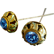 Pair of Enamel Art Nouveau Edwardian Hatpins / hatpin