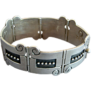 Vintage Taxco Reveriano Castillo Mexican Sterling Silver Bracelet