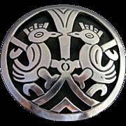 Antonio Reina Taxco Mexican Sterling Silver Bird Pin / Pendant