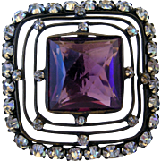 Big Victorian Amethyst & Paste Hatpin