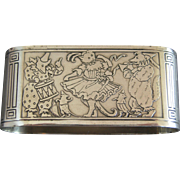 Gorham Sterling Silver Cat, Bear, Dog Party Napkin Ring
